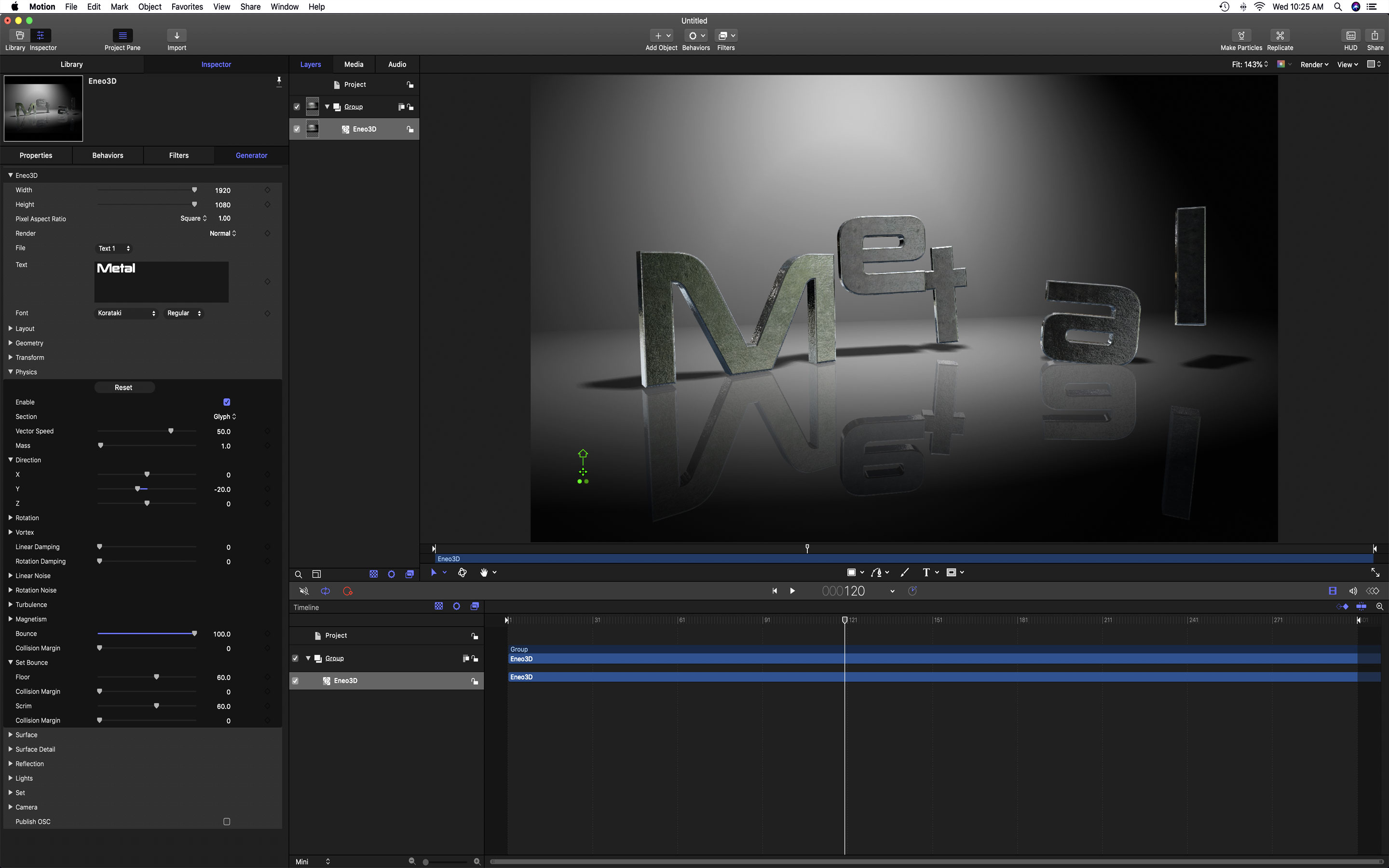 Eneo3D for Final Cut Pro X and Motion